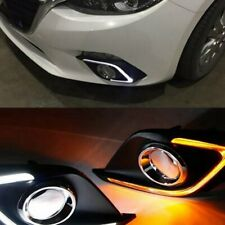 FOR MAZDA 3 AXELA 2014-2016 DRL LED DAYTIME RUNNING LIGHT FOG LAMP W TURN SIGNAL