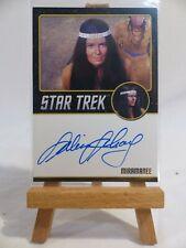 Star Trek TOS 50th anniversary autograph card Sabrina Scharf as Miramanee