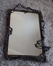 Industrial Punk Mirror - galvanised steel & wrought iron frame