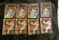 2020 Topps Series One Aristides Aquino RC Rookie Base (4) & Bowman Favorites Lot