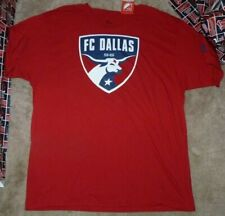 NEW ADIDAS MLS FC Dallas T Shirt Men Big Logo 2XL XXL Soccer NWT