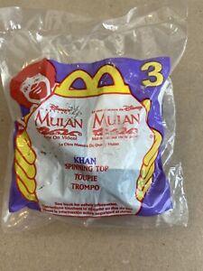 DISNEY KHAN SPINNING TOP MULAN MCDONALD'S HAPPY MEAL TOY NEW NIP SEALED 3
