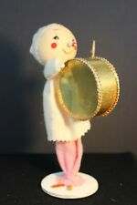 Vintage - Fabric Drummer  Doll - Holiday decoration  - Wire Body