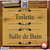 2 stickers autocollant  WC toilette salle de bain douche porte decal décoration