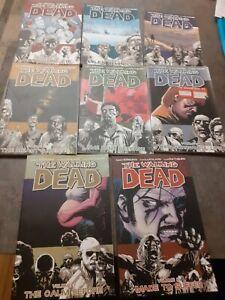 The Walking Dead Comics.  Volume 1-8. Paper back graphic novels. Joblot bundle