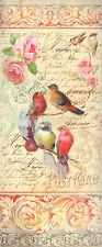 Rice paper for Decoupage Scrapbooking Sheet Craft Postcard Tiny Birds