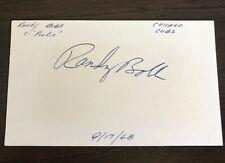 1969 RANDY BOBB AUTOGRAPH CHICAGO CUBS HOLY GRAIL Certified JSA SIGNATURE