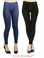 Ladies Womens Plus Size Denim Jeggings Stretchy Skinny Jeans Trouser Pants