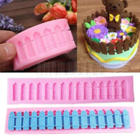 3D Fence Silicone Fondant Mold Cake Chocolate Sugarcraft Baking Mould DIY Tool