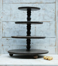 4-tiered Stand cake, rustic wooden stand, stand wedding,stand for cupcakes,brown