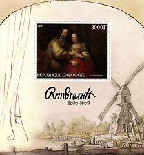 Gabon 2016 MNH Rembrandt 1v S/S Art Paintings Stamps