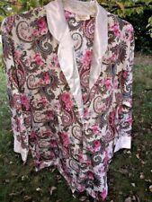 VICTORIA'S SECRET Vintage Rose & Paisley Short Sexy ROBE Night Shirt Womens Sz M
