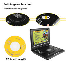 7.8''Portable Swivel Screen DVD Player Widescreen USB SD Game TV & Radio Player