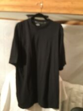 Big & Tall Men's Black T-Shirt Size (6XL)