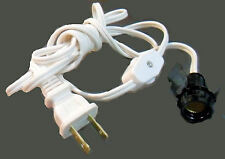 6' White Snap-In Sockets W/ Line Switch And Plug Tr-4842