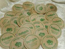 Vintage Potlatch Wooden Nickels lot of 26 Lewiston, Idaho