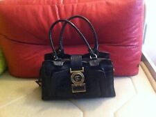 Authentic Just Cavalli Casual Black Leather Medium Size Women's bag Italy