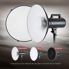 "41cm/16"" Video Studio Beauty Dish Bowens Mount+Honeycomb Grid + Diffuser Softbox"