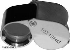 Jewelers Loupe with Case, doublet, corrected ~ 10x Power, 18mm, Jewelry