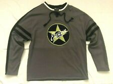 Easton Mens Large Sweatshirt Gray Black Hockey Lace Up EUC