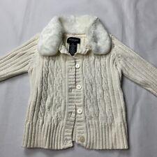 sonoma life style toddler girls 4T knit sweater long sleeve glitter white euc