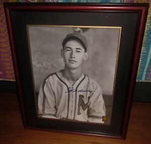 Ted Williams Signed / Autographed / Framed 16x20 Green Diamond Authenticated
