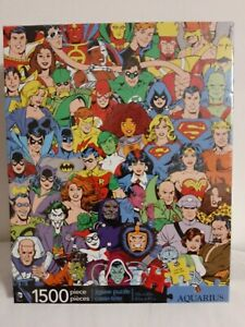 Aquarius DC Comics Originals 1500 Piece Jigsaw Puzzle NEW Superhero Superman Bat