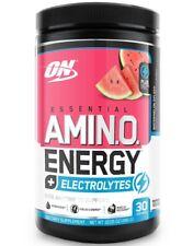 Optimum Essential Amino Energy Electrolytes 30 Serve Watermelon Splash Hydration
