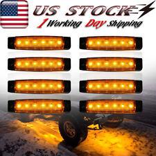 8x Amber Led Rock Lights For Jeep Offroad Truck Utv Atv Rzr Underbody Neon Light