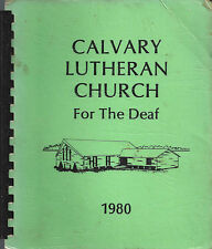 DES MOINES IA 1980 VINTAGE * CALVARY LUTHERAN CHURCH FOR THE DEAF COOK BOOK IOWA