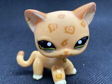 Littlest Pet Shop Lps Authentic 1120 Shorthair Orange Brown Spotted Leopard Cat