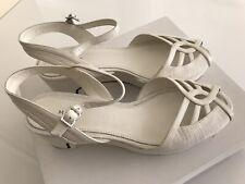 Marc Jacobs FAB White Calf Chalk Sandals Size 6.5