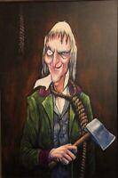 "Disney World WDW Ghost Host Hatchet Man Giclee 20x30"" Haunted Mansion Art 50th"