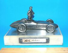 RICK MEARS,HAND SIGNED MICHAEL RICKER PEWTER INDYCAR SCULPTURE 127/500,1/18 COA