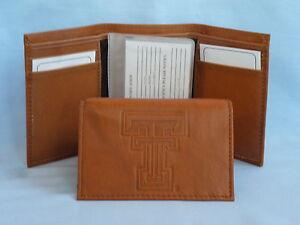 NCAA Siskiyou Sports Mens Texas Tech Red Raiders Leather Bi-fold Wallet One Size Black