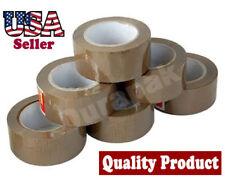 """24 Rolls 1.8 Mil 3""""  100 Yards Carton Sealing Shipping Tape Tan Mail Packaging"""