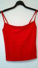 Ärmellose taillenlange Damenblusen, - tops & -shirts ohne Kragen aus Baumwolle