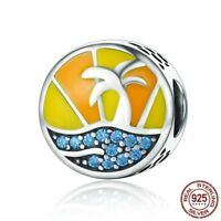Summer Beach charm 100% 925 Sterling Silver Pandora bead