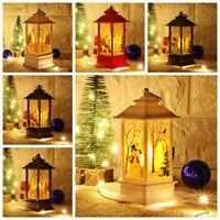 Christmas LED Light Up Lantern Xmas Santa Claus Table Lamp Ornament Decoration H