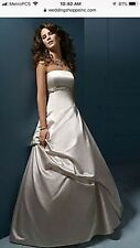 Gorgeous Alfred Angelo Disney Princess Wedding Dress Belle Color Is Silver Frost