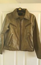 Womens SHENG DA brown/gold PVC Jacket Medium VGC