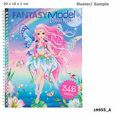 Top Model - Fantasy Model Dress Me Up Activity Book - 298 Stickers - by Depesche