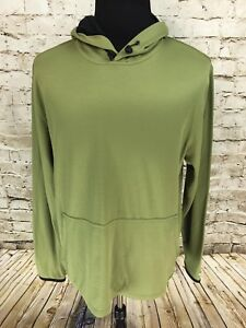 ExOfficio Mens Buzz Off Blend Insect Shield Size M Hoodie Sweatshirt Mesh Lined