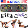 Body Building Push Up Rack Board System Fitness Train Gym Exercise Pushup Stands