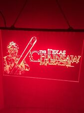 Texas Chainsaw & Other Tv Series Led Light Neon Sign Game Room Home Theater
