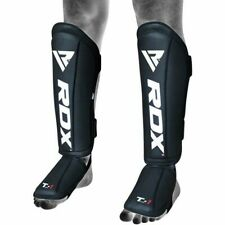 RDX T1 MMA Gel Padded Black Shin Protective Pad Thai Training Kickboxing LRG
