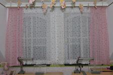 Scheibengardine Store Kinder Einhorn Prinzessin Herz H//B 60x105 cm weiß rosa rot