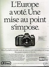 Publicité advertising 1986 Appareil Photo Nikon F 501