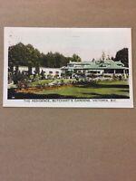 Postcard, 1950 Butchart Gardens Victoria B.C. Canada Hand Tinted Vintage P19