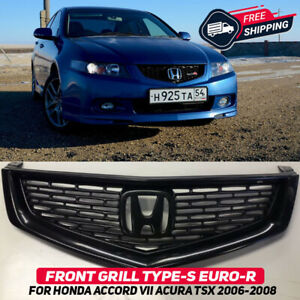 Front Grille For Honda Accord 7 Acura TSX Type S Euro R CL7 2006-2008 Body Kit